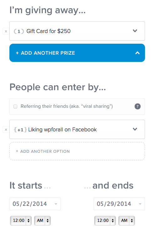 how to run a giveaway using wordpress, how  to run a giveaway using rafflecopter