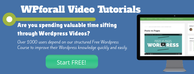 free wordpress video tutorials, wordpress video course, free wordpress course